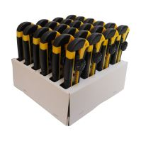 snap-off blade knife,plastic,in selling carton,set 24 pcs,18mm