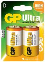 batteries GP Ultra Alkaline, LR20,mono D,blister 2 pcs, 1,5 V