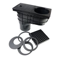 sewer drain, plastic, flow 530 l / min., with a bottom outlet 110 mm
