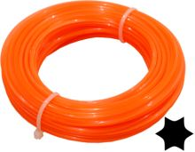 string for trimmer,plastic,star cross-section,1,3mmx15m