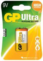 batteries GP Ultra Alkaline, 6LF22,flat, blister 1 pcs, 9 V
