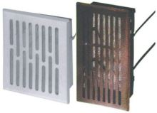 ventilation grille,metal,brown,square,mesh,225x155/210x140mm,outlet 200x130mm