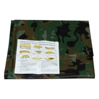 covering tarp,camouflage, with metal eyelets, 2 x 10 m, 80 g