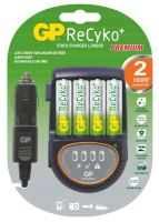 battery charger GP, even in the car, with LED, 4 x NiMH AA, AAA