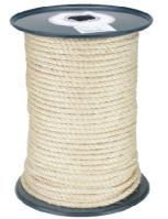 rope twisted, natural, sisal, without core, O 10 mm x 100 m, Lanex