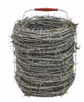 barbed wire, galvanized,O 1,7 mm / 100 m