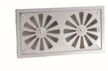 ventilation grille,stainless,arrest,130 x 240 mm, xxx
