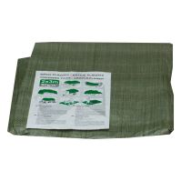 covering tarp, green, with metal eyelets,   2x10m standard