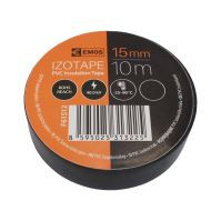 electrical insulating tape, black, 15 mm x 10 m