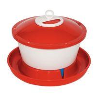 drinking basin for hen , float, plastic, 6,0 l