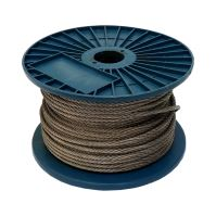 steel rope, galvanized on the reel, 1 x 19 wires, O 2 mm x 200 m