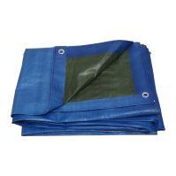 covering tarp, blue-green, with metal eyelets, 5 x 6 m, 150 g / m2, profi