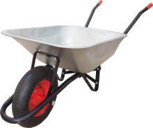 construction wheelbarrow, trailed body galvanized 60l, air wheel