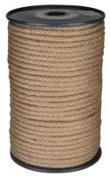 rope twisted ,natural with PP,without core,J-PP, O 8 mm x 100 m, Lanex