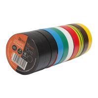 electrical insulating tape, set 10 pcs, 15 mm x 10 m