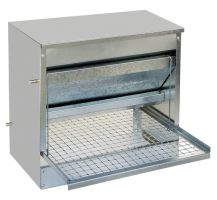 feeder for hen , galvanized, footboard, automatic,10 kg