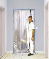 foil protective , into door,100 µ, 115 x 220 cm