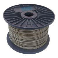 rope steel, zinc, PVC waterproof sleeving, on the reel, 7 x 7 wires ,O 2/3 mm O x 200