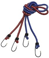 rubber rope,clamping,small hooks,set 2pcs,to 6kg,O 6 mm x 80 cm