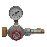 valve on PB, reducer, with manometer, 0.5 - 4 bar