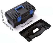 box, plastic,for tools, Caliber, 460 x 257 x 227 mm