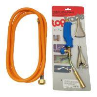 burner PB tanning,hose 3m,pressure regulator,round O 12mm,15mm for tubes,flat 17mm/380mm