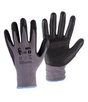 gloves NAPA, with knit, gray - black, size 10