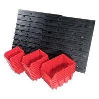 ecobox,plastic,set 24 boxes,2 panels,800 x 195 x 400 mm