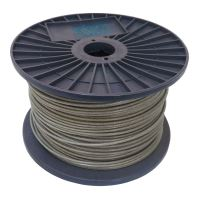 rope steel, zinc, PVC waterproof sleeving, on the reel, 7 x 7 wires , O 3/4 mm x 100 m