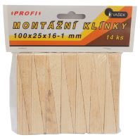 assembly wedge,wood,package 14pcs,100x25x16-1mm