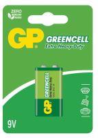 batteries GP  Greencell, Zinc – Chloride, 6F22, flat, blister 1 pcs 9 V