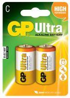 batteries GP Ultra Alkaline, LR14,mono C,blister 2 pcs, 1,5 V
