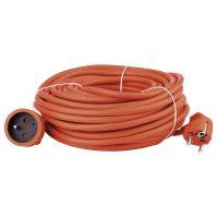 cable extension,orange, 20 m, ~ 250 V / 16 A