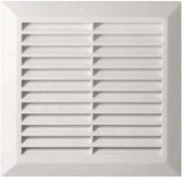 ventilation grille,plastic,white,square,mesh,170x170/140x140mm,outlet 137x137mm