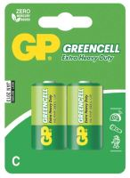 batteries GP  Greencell, Zinc – Chloride R14, mono C, blister 2 pcs, 1,5 V