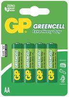 batteries GP Greencell, Zinc – Chloride, R6, AA, blister 4pcs, 1,5 V