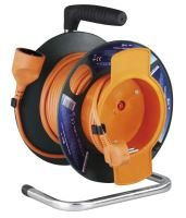 extension cord, orange, on the unwinding drum, clutch, thermal fuse, 25 m ~ 230 V / 16A