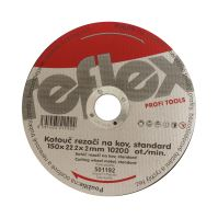 cutting disc,metal ,125 x 22,2 x 2 mm, standard
