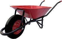 construction wheelbarrow, red - black trailed body 60l, air wheel