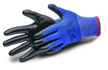 gloves ALLSTAR, with nitrile coating and knit, size 8