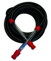 leveling hose, rubber, black, set 2 pcs, plastic pipe, 12 m